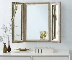 Tri Fold Bathroom Mirror by Waterproof Wall Panels For Bathrooms Ideas