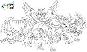 Dragon 16 Characters Printable Coloring Pages Skylander Coloring Pages Printable