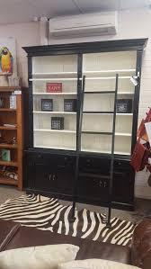 2 bay library bookcase black white u2013 perth furniture emporium