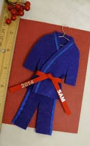 blue belt martial arts ornament by christmasgal on etsy