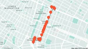 Map Of Lower East Side New York by Lower East Side Tour Travel Tour Audio Guide In New York On