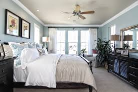 charming bedroom colors with black furniture blue paint color