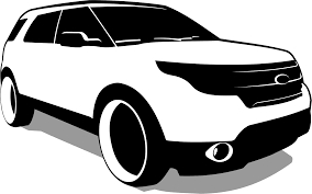 Ford Explorer Black - ford explorer black and white png clipart download free images