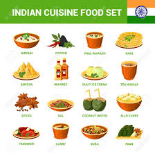 different indian cuisines indian cuisine food set with different dishes spices and drinks