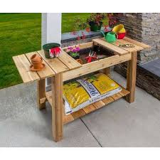 Garden Bench With Planters Wood Planters Pots U0026 Planters The Home Depot