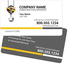 crane hook contractor business cards youprint