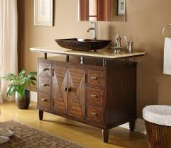 Bathroom Vessel Sink Ideas Bathroom Double White Bath Vanity With Sink And Silver Faucet For