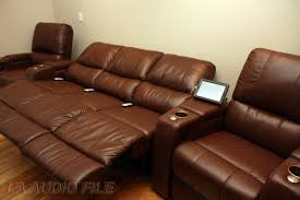 home theater sectionals palliser media sectional with 4 palliser home theater seating in