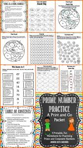 prime numbers and composite numbers print and go prime numbers