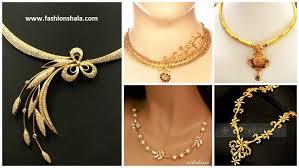 elegant gold necklace designs images Elegant gold necklace jewellery designs kurti blouse jpg