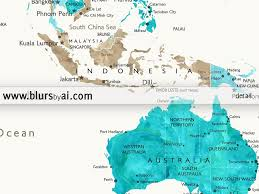 Palau Map Personalized World Map Printable In Aquamarine And Brown