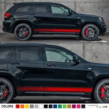 racing jeep grand cherokee amazon com set of racing side stripes decal sticker graphic