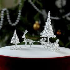 Christmas Tree Cake Decorations Ideas by Santa U0026 Sleigh Sterling Silver Christmas Cake Decoration