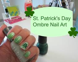 st patrick u0027s day ombre nail art youtube
