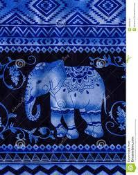 elephant print fabric stock photo image 48655838