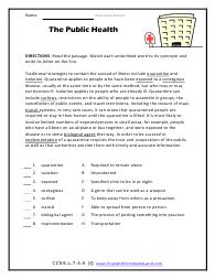 grade 7 context clues worksheets