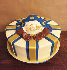 cakes by mindy royal blue and gold baby shower cake 14