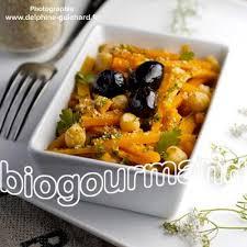 recettes cuisine bio salade tiède de carottes et pois chiches au cumin cuisine bio
