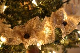 burlap christmas tree garland christmas lights decoration