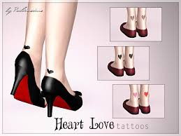 pralinesims u0027 heart love tattoos