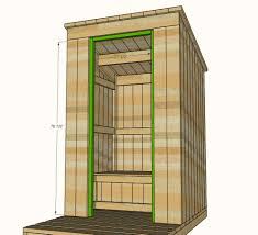 plans for building a cabin ana white outhouse plan for cabin diy projects