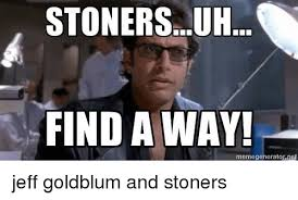 Jeff Goldblum Meme - stonersuh find away memegeneratornet jeff goldblum and stoners