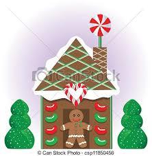 christmas gingerbread house vector illustration of a christmas gingerbread house clipart