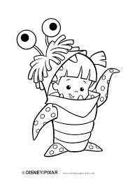 cartoon coloring pages monsters inc color page coloring pages