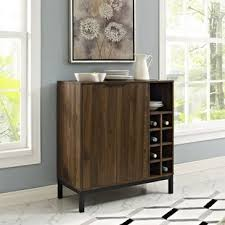 Metal Bar Cabinet Bar Cabinet With Wine Storage Wayfair