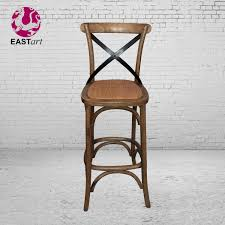 country loft furniture iron metal backed chair dinette chairs