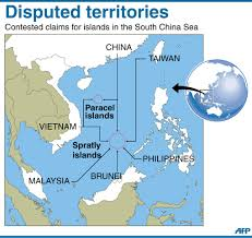 China Sea Map by Contention Over South China Sea U2013 Civilsdaily
