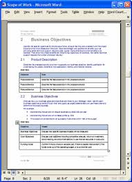 Scope Of Work Template Excel 5 Scope Of Work Template Receipt Templates