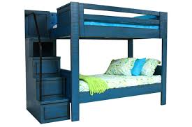 Bunk Beds Auburn Blue Bunk Bed With Staircase At Gardner White