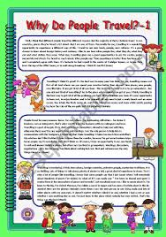 Why do people travel 1 esl worksheet by elenagrig