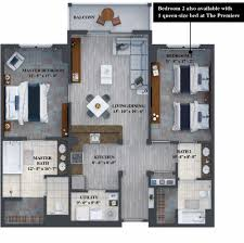 2 bedroom floor plans the grove resort residences palm 2 bedroom
