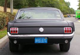 1966 Ford Mustang Black Classic 1966 Ford Mustang Coupe Restomod Satin Black Paint 17