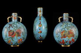 Antique Cloisonne Vases Antique Chinese Cloisonné Enamels 珍稀中国古董 景泰蓝 拉密东方