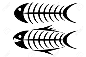 set of two tribal fish bone tattoos royalty free cliparts vectors