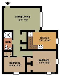 Two Bedroom Floor Plans Floor Plans U0026 Pricing Brandywine Manor Apartments