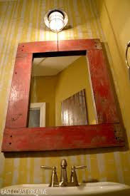 How To Make A Frame For A Bathroom Mirror by How To Make A Wood Framed Mirror East Coast Creative Blog