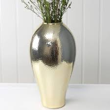Gold Tall Vases Tall Gold Hammered Vase By Marquis U0026 Dawe Notonthehighstreet Com