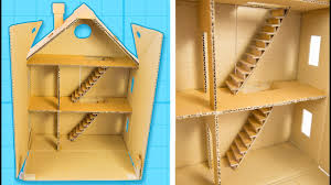 how to make a cardboard house with rooms part 1 5 craft ideas