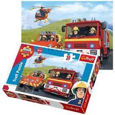 trefl 30 piece kids fireman sam rescue engine helicopter penny