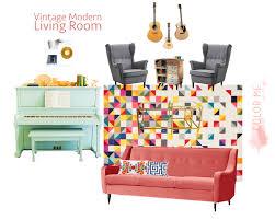 a vintage modern living room design