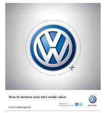 Print Advertisement Idea Design This Volkswagen Ad Is Simple Yet Effective It Makes People Think