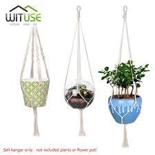 Simple Macrame Plant Hanger - shop wituse macrame plant hanger hook pot holder handmade