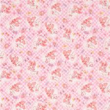 ribbon fabric checkered pink white bonbon ribbon bunny rabbit and heart oxford
