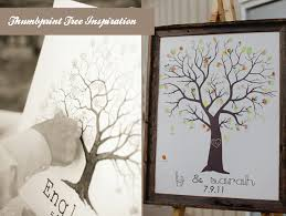 tree signing for wedding try a fingerprint tree for an alternative wedding guestbook idea