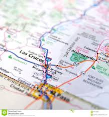 Mexico Road Map by Road Atlas Of Las Cruces New Mexico Stock Photo Image 42373892