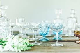 vintage champagne glasses glassware rent vintage chicago